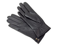 Black leather gloves Stock Photography
