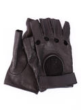 Black leather gloves Stock Images