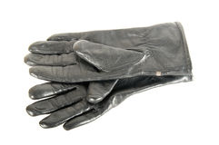 Black leather gloves. Are on each other Stock Photography