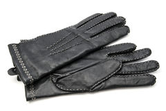 Black leather gloves Stock Image