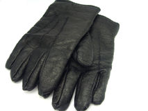 Black leather gloves Royalty Free Stock Image