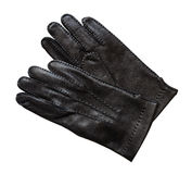 Black leather gloves. Royalty Free Stock Image