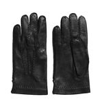 Black leather gloves. Royalty Free Stock Photo
