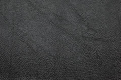 Black leather grained texture background. Background texture of leather, grained pattern Royalty Free Stock Photos