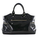 Black leather handbag Royalty Free Stock Photo