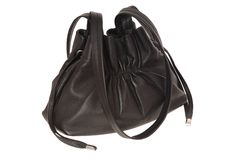 Black leather handbag. Stock Images
