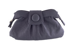 Black leather handbag Royalty Free Stock Photography