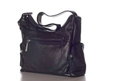 Black Leather Handbag Royalty Free Stock Image