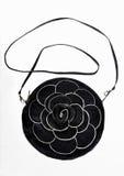 Black leather handbag Royalty Free Stock Photography