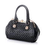 A Black Leather Handbag Royalty Free Stock Image
