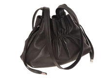 A black leather handbag Stock Image