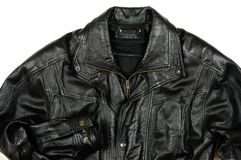 Black leather jacket Royalty Free Stock Images