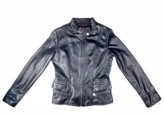 Black Leather Jacket Royalty Free Stock Photography