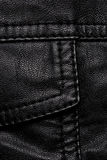 Black leather jacket details Stock Images
