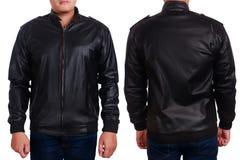 Black Leather Jacket Mockup Template royalty free stock photo