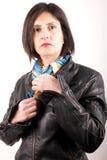 Black leather jacket Stock Image