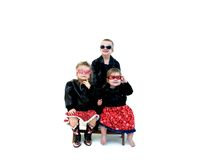 Black Leather Kids Stock Photos