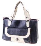 Black leather ladies handbag Royalty Free Stock Photography