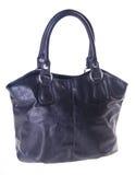 Black leather ladies handbag Stock Photos