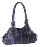 Black leather ladies handbag Royalty Free Stock Photos