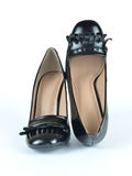 Black Leather Loafer Shoes Royalty Free Stock Photography