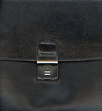 Black leather with lock Stock Photos