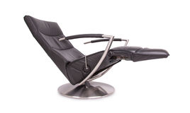 Black leather lounge chair Royalty Free Stock Photos