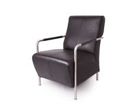 Black leather lounge chair Royalty Free Stock Photography