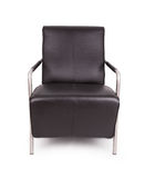 Black leather lounge chair Stock Photos