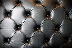 Black leather luxury sofa texture background Royalty Free Stock Photo