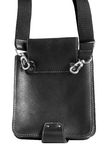 Black leather male bag Royalty Free Stock Photo