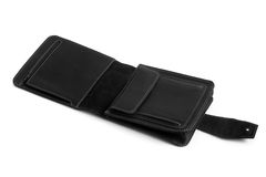 Black leather male bag Royalty Free Stock Image