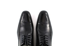 Black leather man boot Royalty Free Stock Images