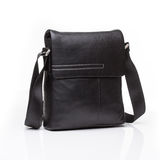Black leather men casual or business briefcase Stock Image