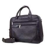 Black leather men's briefcase Royalty Free Stock Images