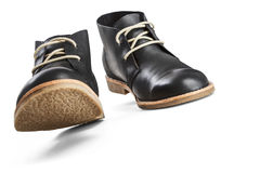 Black leather men's shoes Stock Photography