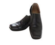 Black leather men's shoes Stock Photo