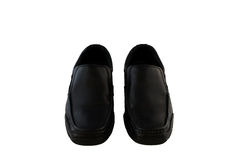Black leather men's shoes Royalty Free Stock Photography