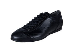 Black Leather Men Shoe Royalty Free Stock Image