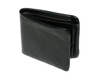 Black leather new wallet Royalty Free Stock Photos