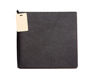 Black leather note book Royalty Free Stock Photo