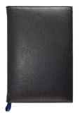Black leather note book isolated Royalty Free Stock Photos