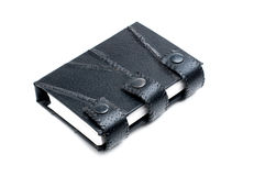 Black leather  note book Royalty Free Stock Images