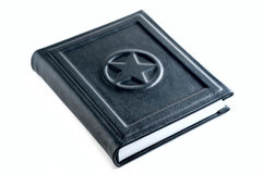 Black leather  note book Stock Photos