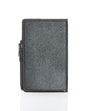 Black leather note book and pen on white Royalty Free Stock Image