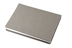 Black leather notebook Stock Photos