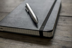 Black Leather Notebook Royalty Free Stock Images