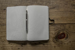 Black Leather Notebook Stock Photo