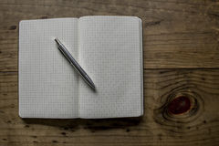 Black Leather Notebook Royalty Free Stock Photography