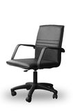 Black leather office chair Stock Images
